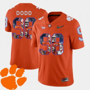 Men's Football Clemson Tigers #98 Pictorial Fashion Kevin Dodd college Jersey - Orange