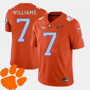 Men 2018 ACC #7 Football Clemson Mike Williams college Jersey - Orange