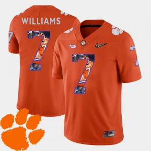 Men's Football Pictorial Fashion Clemson Tigers #7 Mike Williams college Jersey - Orange