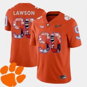 Men's Football Pictorial Fashion #90 Clemson Tigers Shaq Lawson college Jersey - Orange