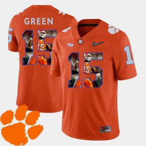 Men #15 Football Pictorial Fashion CFP Champs T.J. Green college Jersey - Orange