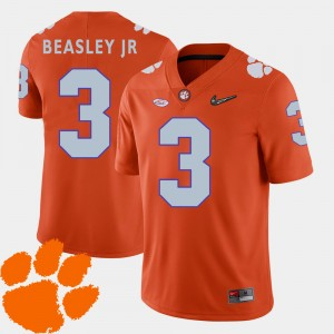 Men 2018 ACC CFP Champs Football #3 Vic Beasley Jr. college Jersey - Orange