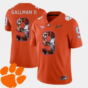Men Pictorial Fashion #9 CFP Champs Football Wayne Gallman II college Jersey - Orange
