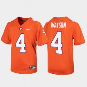 Youth Clemson #4 Alumni Football Game Deshaun Watson college Jersey - Orange